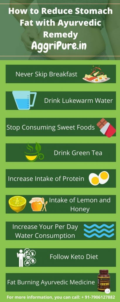 How to Reduce Stomach Fat infographic