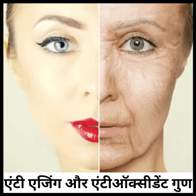 एंटी एजिंग और एंटीऑक्सीडेंट गुण, चेहरा साफ करने की दवा