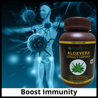 Boost Immunity, Pure Aloevera Extract Capsules