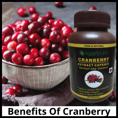 Benefits Of Cranberry, Pure Cranberry Extract Capsules