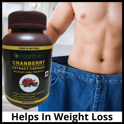 Helps In Weight Loss, Pure Cranberry Extract Capsules