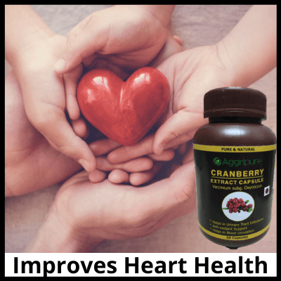 Improves Heart Health, Pure Cranberry Extract Capsules