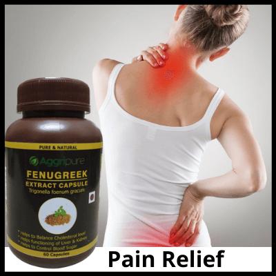 Pain Relief, Pure Fenugreek Extract Capsules