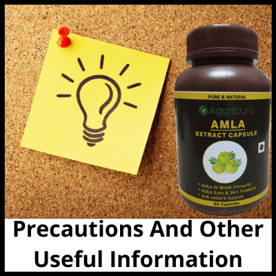 Precautions And Other Useful Information, Pure Amla Extract Capsule