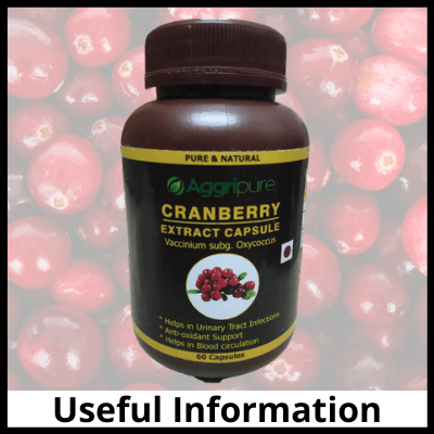 Useful Information, Pure Cranberry Extract Capsules
