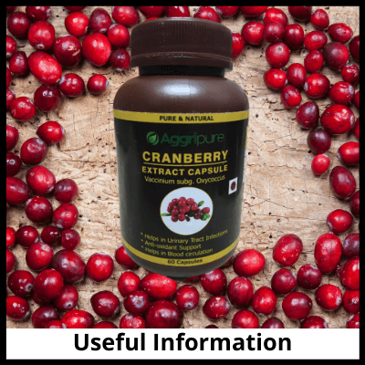 Useful Information, Cranberry Capsules 300 Mg