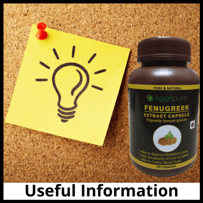 Useful Information, Pure Fenugreek Extract Capsules