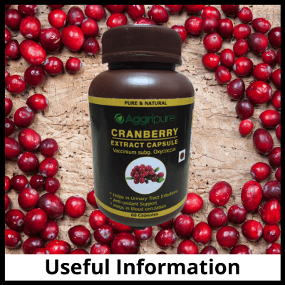 Useful information, Cranberry Extract For UTI