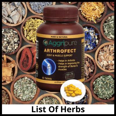 list of herbs arthrofect, कमर दर्द की आयुर्वेदिक दवा
