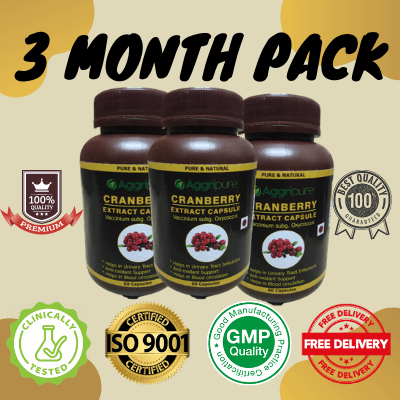 3 Month Pack cranberry, Cranberry Extract Capsules