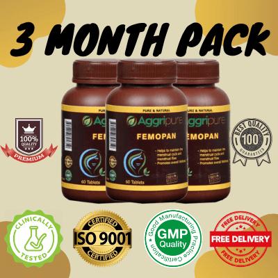 3 Month Pack femopan, Shatavari Extract Tablets