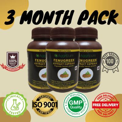 3 Month Pack fenugreek, Fenugreek Extract Capsules