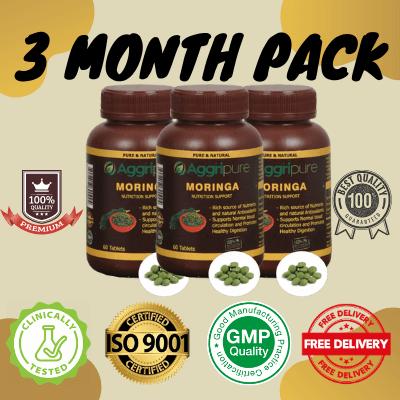 3 Month Pack moringa, Pure Moringa Oleifera Extracts Tablets