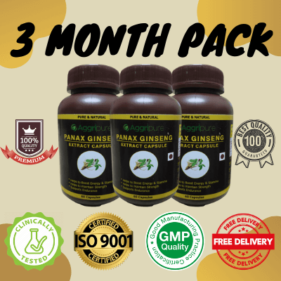 3 Month Pack panax gingeng, panax ginseng extract capsules
