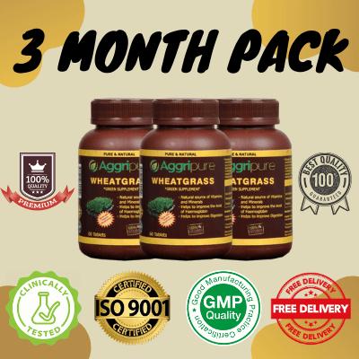 3 Month Pack wheatgrass, Wheatgrass Powder Tablets