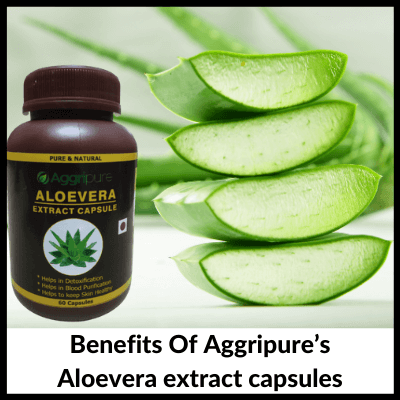 Benefits Of Aggripure's Aloevera extract capsules, Aloevera Extract Capsules