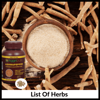 List Of Herbs, Men's Kit For Sexual Health Enhancement