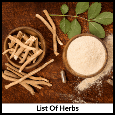 List Of Herbs, Ashwagandha Extract Capsules